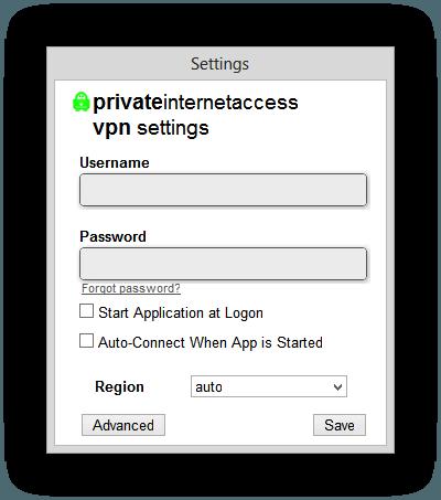 PrivateInternetAccess ClientWelcome