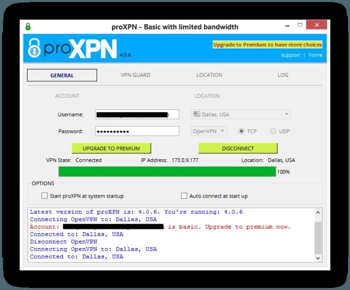 ProXPN ConnectScreen