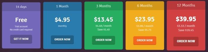 SmartyDNS pricing plan 2015