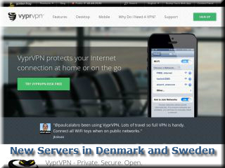 VyprVPN Adds New Servers in Denmark and Sweden