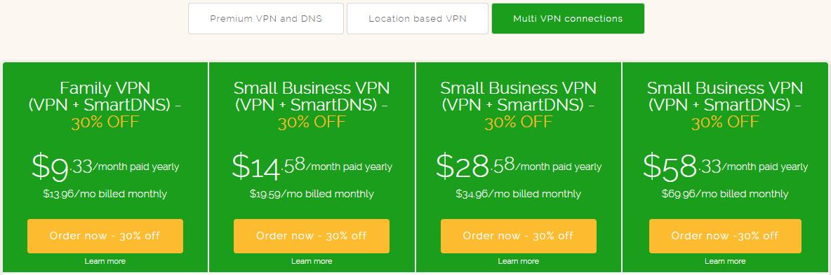 ibvpn multi VPN pricing plan 2015
