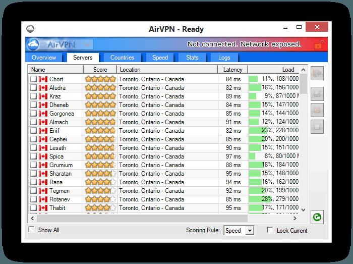 AirVPN Servers