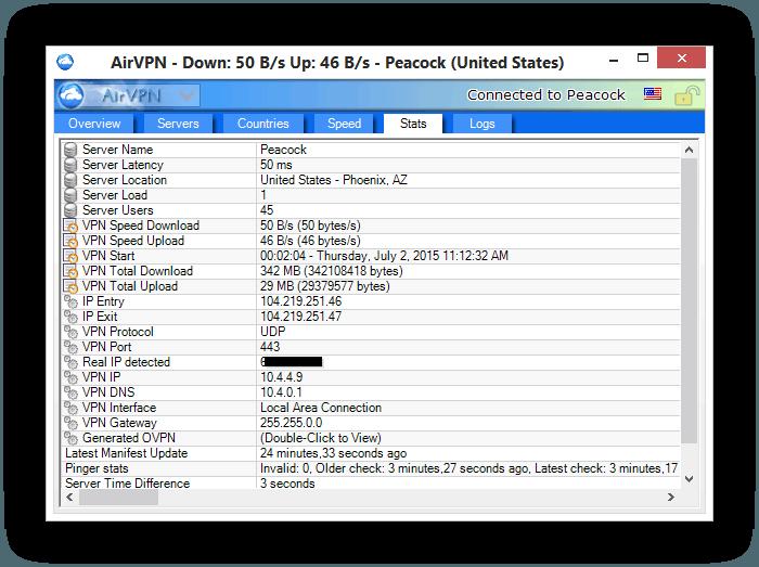 AirVPN Stats