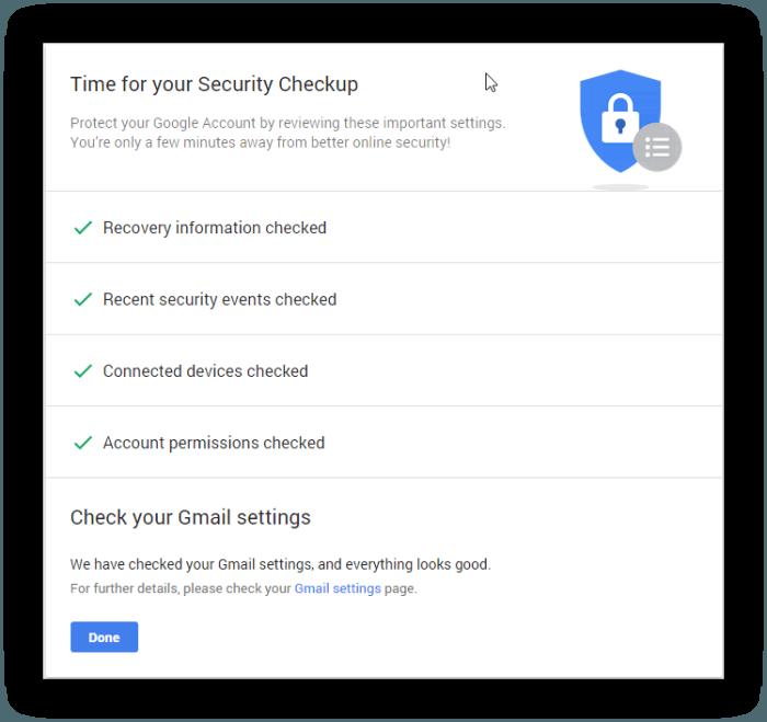 GooglePrivacyCompletedCheckup