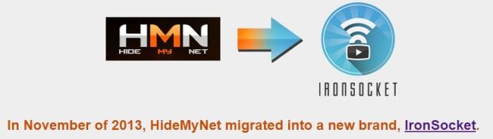 HideMyNet is now IronSocket