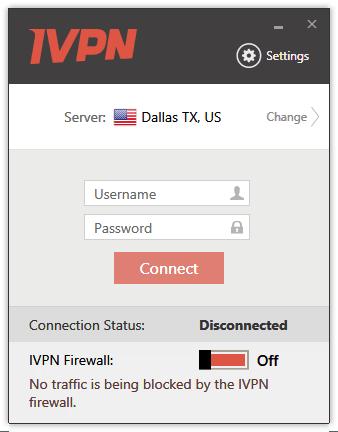 IVPN MainScreen