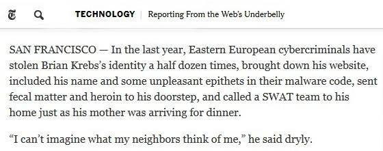 Krebs on NYT article