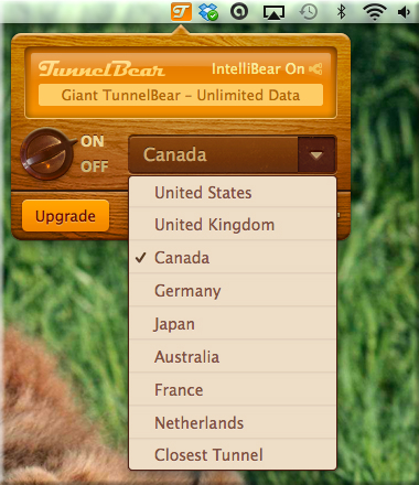 Mac app - country list bear