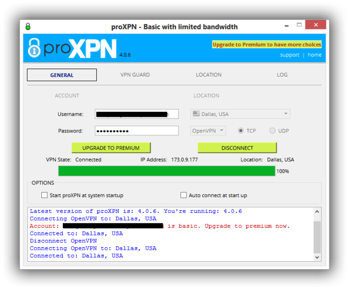 ProXPN ConnectScreen