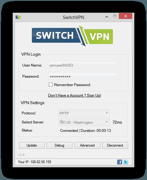 SwitchVPN Main