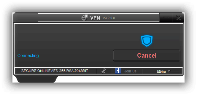 VPN4All Connectingscreen