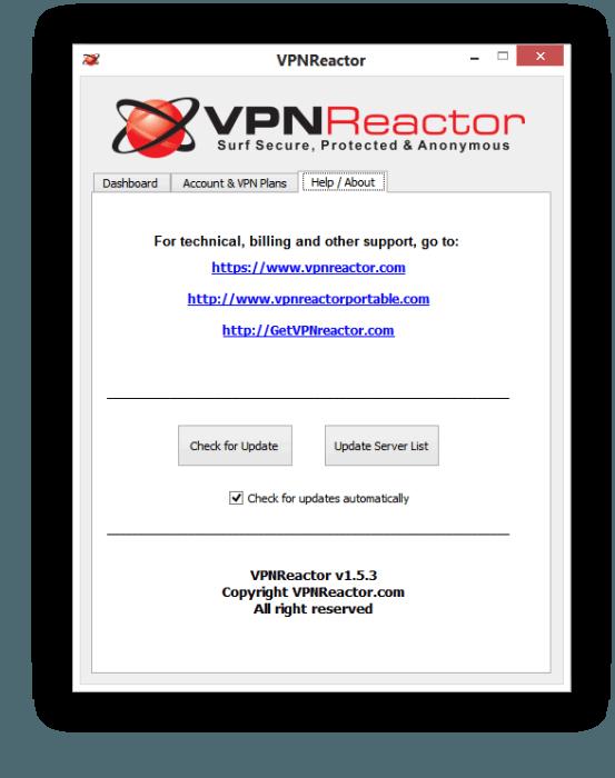 VPNReactorr Help