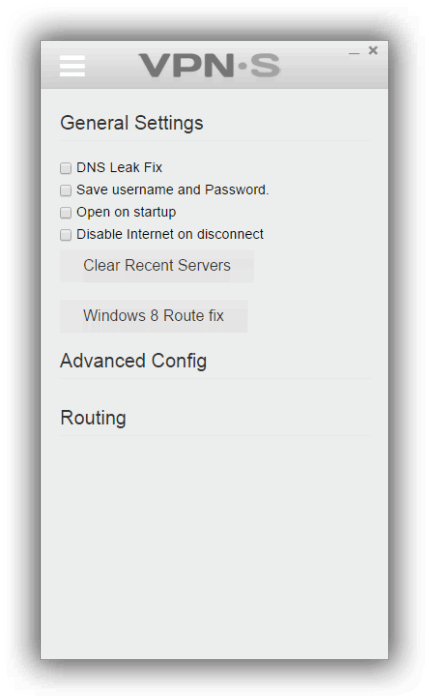 VPNSecureme Settings
