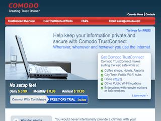 Comodo TrustConnect VPN Review