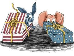 peeking at presents